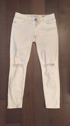 White denim pants size 36