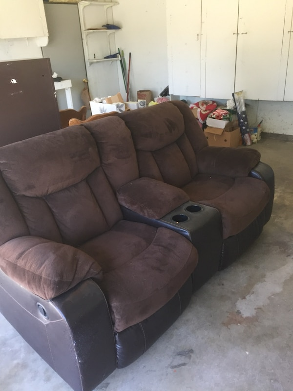 Used brown suede home theater sofa for sale in Pleasanton - letgo