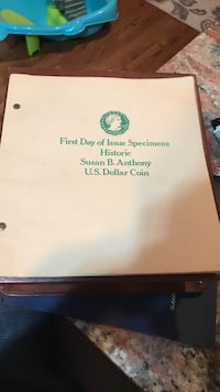 First day of issue specimens historic susan b. anthony