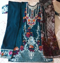 brand new khader suit with plachi dopta