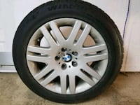 gray BMW multi-spoke vehicle wheel and tire Mississauga, L5H 1L6