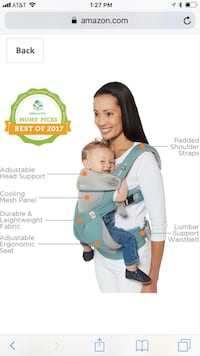 Ergobaby 360 All Carry Positions Award-Winning Cool Mesh Ergonomic Baby Carrier, Carbon Grey Miami, 33132