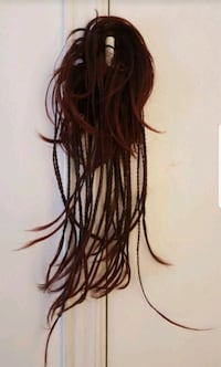 Hair extension braided hair mahogany color