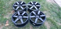 4 focal wheels rims  like new condition 17x7.5  5x112  5x120