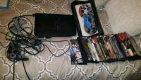 black Sony PS3 Slim with controllers and game cases Louisville, 40258