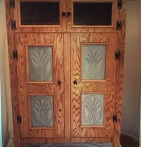 Antique style oak pie safe with punched tin door panels hand made new Locust Grove, 22508