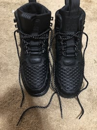 Nike AF1 Duckboots- Black on Black North Potomac, 20878