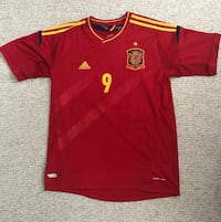 Red and yellow adidas 9 soccer jersey shirt Vancouver, V5T 2Y7