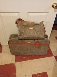 Suitcase with matching carryon
