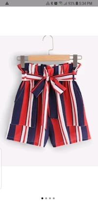 white, blue navy, and red striped shorts  Shanty Bay, L0L 2L0