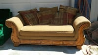Very comfortable light brown couch