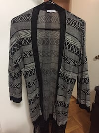 Blue and black cardigan