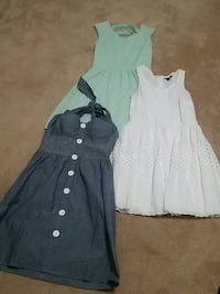 three assorted-color mini dresses Alexandria, 22311