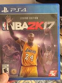 NBA 2K17 PS4 game case