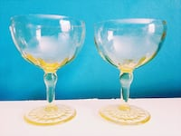 Set of 2- yellow Depression glassware Toronto, M5C 2V9