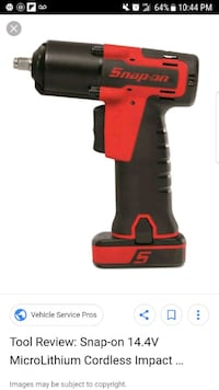 red and black Milwaukee cordless impact wrench Elizabeth, 07202