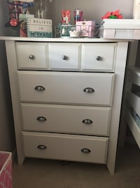 """White dresser 42x35x18.5"""". One drawer needs some repair. Heavy and functional   Pacheco, 94553"""