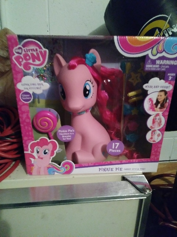 pink My Little Pony plastic toy