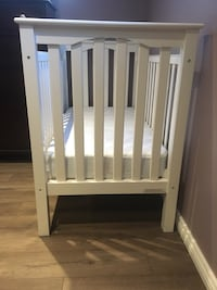 Never used-Baby's white wooden crib with mattress&cover 775 km