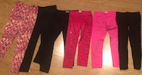 GIRL SIZE 10 YOUTH SCHOOL LEGGINGS PANTS JEANS JUSTICE  BLACK PINK BLUE Macomb, 48042