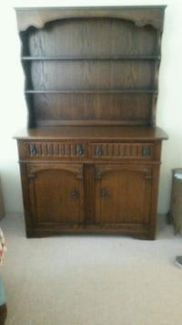 Solid wood cabinet with hutch Surrey, V4N 3S3