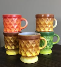 5 Colourful Mid Century Kimberly Mugs (Lot 2) Calgary, T3K 5X7