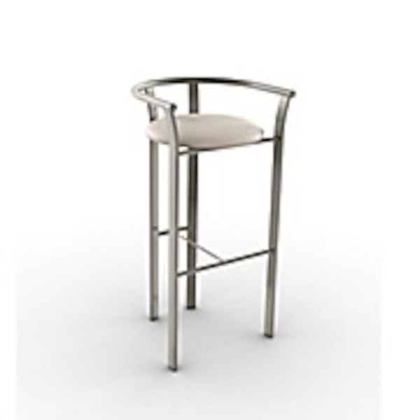 Used Amisco Lolo Metal Counter Stool 26 Inch Titanium For Sale In