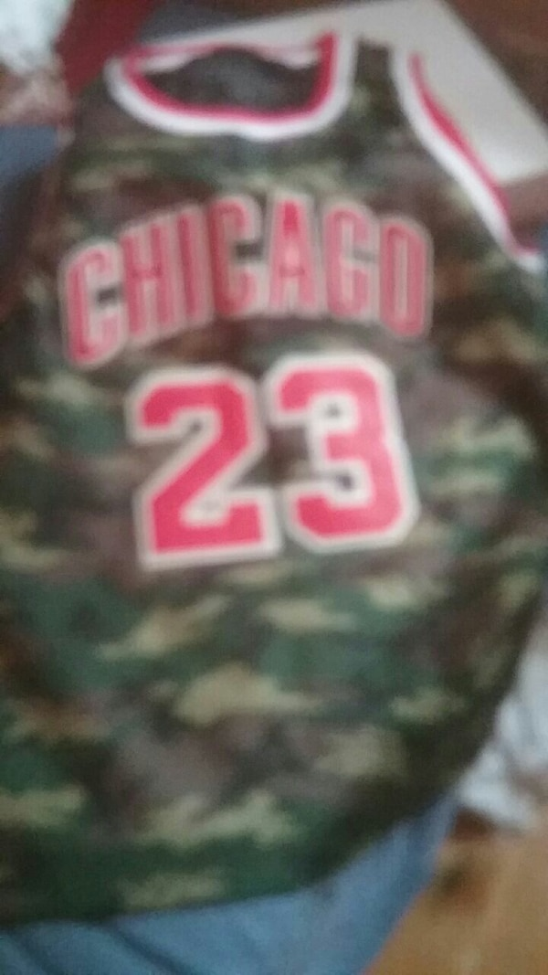 9aeee7a5a2d1c4 Used green camouflage Michael Jordan basketball tank top for sale in  Sandwich - letgo