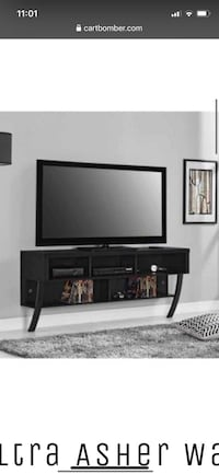 Black wall mounted TV stand Dumfries, 22025