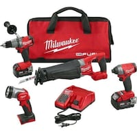 red Milwaukee power tool set Mississauga, L4W 3Z4