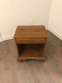 brown wooden single-drawer end table Washington, 20004