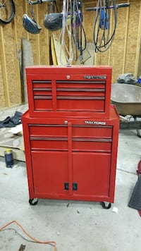 red Task Force tool chest