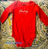 Red crew-neck long-sleeved shirt San Angelo, 76901