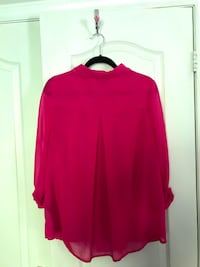 Pink button up chiffon shirt Vaughan