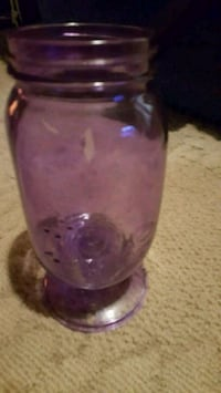 purple and clear glass vase Bartlesville, 74006