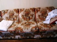 white and brown floral 3-seat sofa Lubbock, 79413