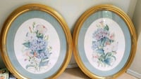 round white and yellow floral ceramic plate Mill Bay, V0R 2P3