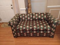 green and brown floral fabric sofa Upper Marlboro, 20772