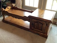 Wooden Coffee Table - Sturdy Marshall, 20115