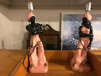 1955 era lamps x 2 mint condition