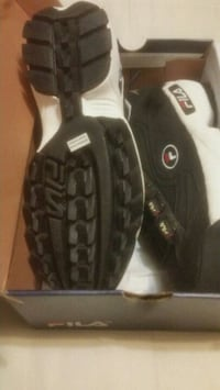pair of black-and-white Nike sneakers Chilliwack