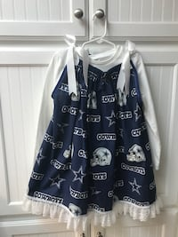 LITTLE GIRLS DALLAS COWBOYS DRESS WITH MATCHING HAIR BOW. Amarillo, 79109