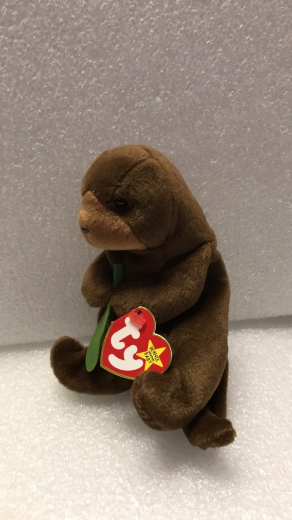 b30c2404820 Used Brown and green ty beanie baby bear plush toy for sale in Oak Lawn