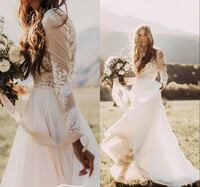 Lace Long Sleeve Bridal Gown