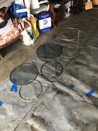 Three glass & metal coffee tables  Edmonton, T5M 0S6