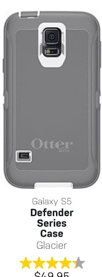 Samsung Galaxy S5 Otter Box  phone case grey and white Vaughan, L6A