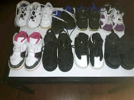 Kids Jordans and Nike Sneakers Different Sizes Listed