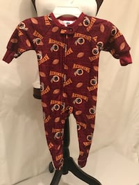 NFL Team Apparel Washington REDSKINS Baby Sleeper Size 12 Months Alexandria, 22306