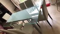 Glass dining table and chairs Alexandria, 22315