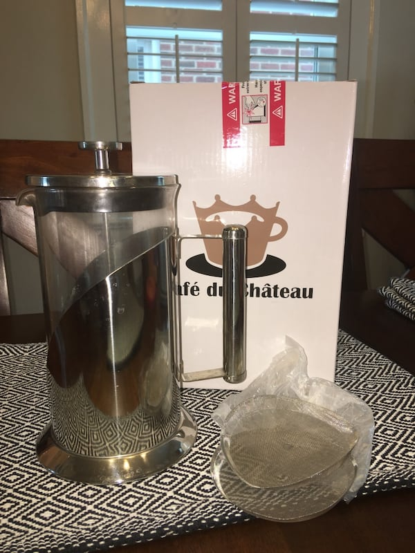 Cafe Du Chateau 34 oz French Press Coffee Maker - Stainless Steel 336341e2-9dd5-472c-98a0-fb3c5c6a7969